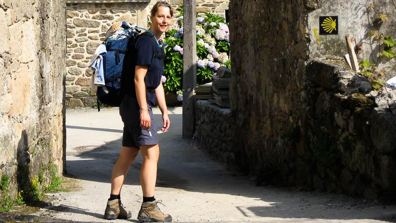Beate Steger auf dem Jakobsweg in Spanien von St.Jean-Pied-de-Port nach Santiago de Compostela