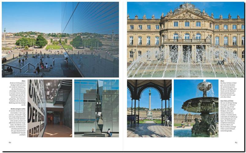 Bilder und Text über Stuttgart, der Landeshauptstadt von Baden Württemberg