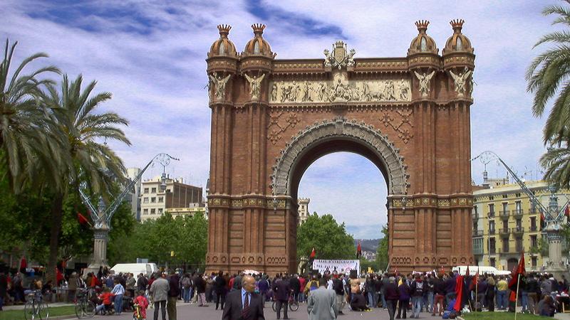 wurde gebaut anlässlich der Weltausstellung 1888 als Haupteingangstor