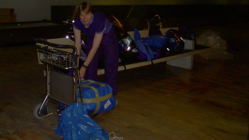 Unser Tarif umfasste pro Person ein Rad und ein Gepäckstück.