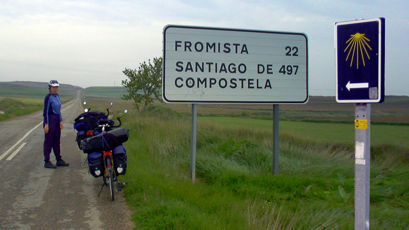 Kurz vor Fromista bleiben immerhin noch fast 500km nach Santiago de Compostela