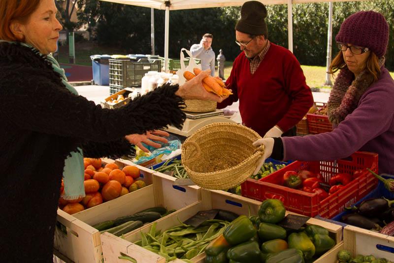 Einkaufen mit Ulla auf dem Biomarkt in Palma de Mallorca