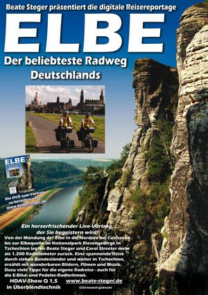 Plakat zu Die Elbe - Deutschlands beliebtester Radweg von Beate Steger