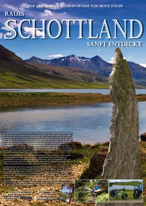 Plakat Raues Schottland - sanft entdeckt von Beate Steger