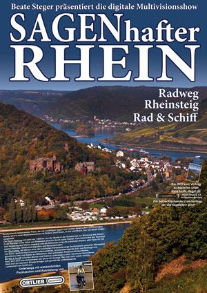 Plakat zu SAGENhafter Rhein: Radweg - Rheinsteig - Rad und Schiff von Beate Steger