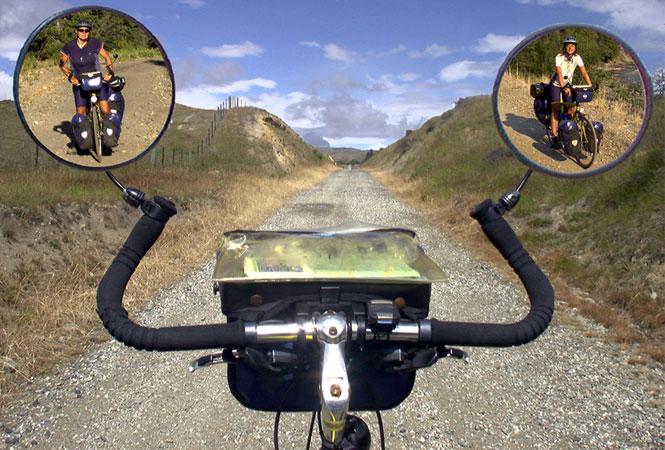 Titelbild zum Vortrag Weltreise mit Rad und Laptop von Beate Steger