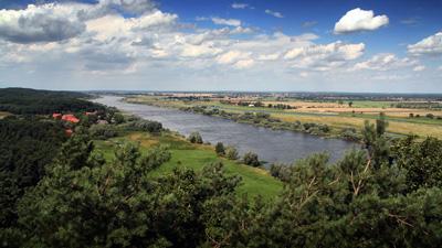 Die Elbe von den Elbhöhen aus gesehen, zwischen Lauenburg und Hitzacker