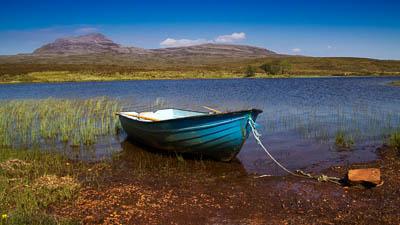 In den nördlichen Highlands im Assynt, Schottland