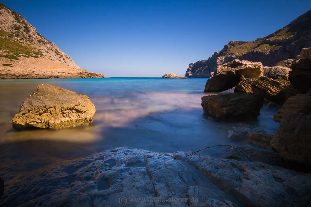 Cala Figuera, die Feigenbucht, auf der Halbinsel Formentor auf Mallorca