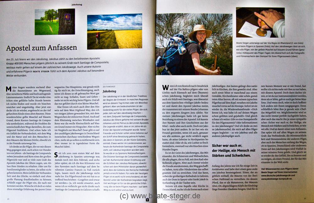 Text und Bilder von Beate Steger im Magazin Andere Zeiten