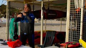 Mallorca: Beate Steger bei Vorbereitungen für die Kajaktour
