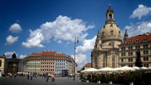 Dresden mit Neumarkt und Frauenkirche