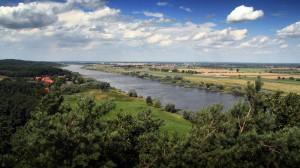 Blick über die Elbe von den Klötzje aus