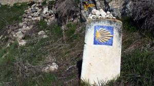 Wegzeichen Camino Francés