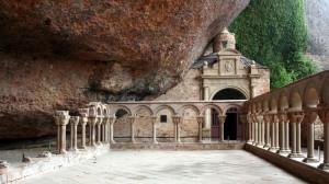Kloster San Juan de la Peña in Jaca, Camino Aragonese