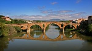 Brücke in Puente la Reina, Camino Francés
