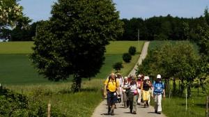 Pilgergruppe aus Olfen auf dem Weg an den Bodensee