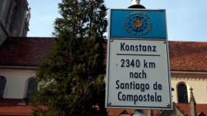 Wegzeichen am Konstanzer Münster