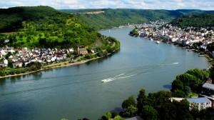 Blick vom Rheinsteig auf den Mittelrhein