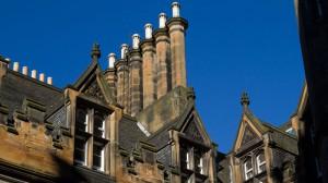 Georgianische Schornsteine in Edinburgh