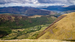 Blick vom Ben Nevis über die Highlands
