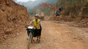 In Baustellen gefangen in Nordvietnam