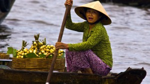 Mekong schwimmende Märkte