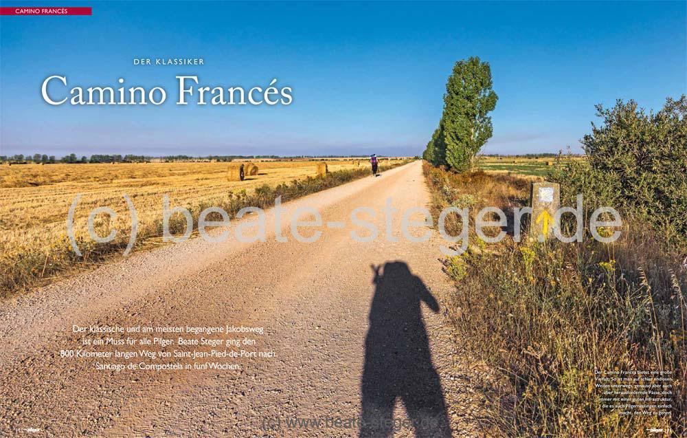 Coverbild des Artikels über den Jakobsweg in Spanien